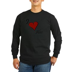 I love Alec Long Sleeve Dark T-Shirt