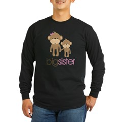 monkey big sister Long Sleeve Dark T-Shirt