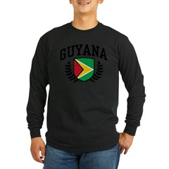 Guyana Long Sleeve Dark T-Shirt