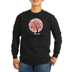 AIDS/HIV Tree Long Sleeve Dark T-Shirt