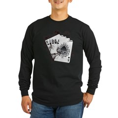 Smokin' Royal Flush Long Sleeve Dark T-Shirt