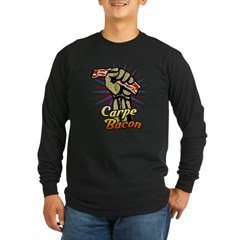 Carpe Bacon Long Sleeve Dark T-Shirt