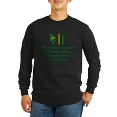 Elf Christmas Cheer Long Sleeve Dark T-Shirt