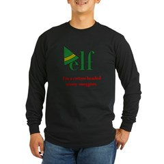 Elf Ninny-Muggins Long Sleeve Dark T-Shirt