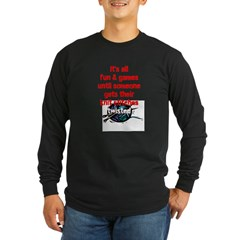 Twisted Stitches Long Sleeve Dark T-Shirt