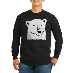 Andy the polar bear plain black Long Sleeve Dark T-Shirt