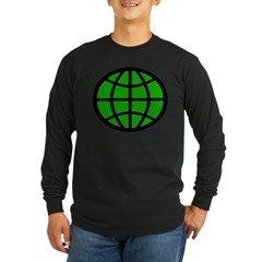 Planeteer Ash Grey Long Sleeve Dark T-Shirt