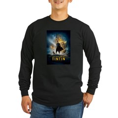 Tintin Movie Long Sleeve Dark T-Shirt