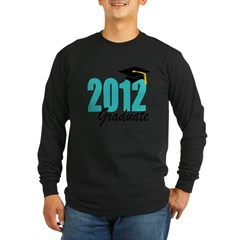 2012 graduate aqua Long Sleeve Dark T-Shirt