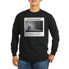 Nice Place To Play Pinball Long Sleeve Dark T-Shirt