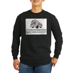 Knockin Rockin Ash Grey Long Sleeve Dark T-Shirt