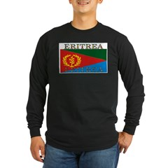 Eritrea Long Sleeve Dark T-Shirt
