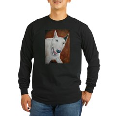 A Bull Terrier Ash Grey Long Sleeve Dark T-Shirt
