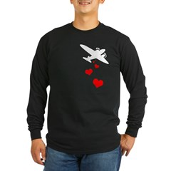 Love Bombs Black Long Sleeve Dark T-Shirt
