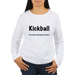 Kickball Women's Long Sleeve T-Shirt