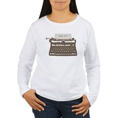 Typewriter Women's Long Sleeve T-Shirt