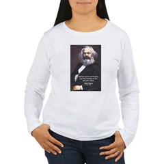 Union of Workers: Marx Women's Long Sleeve T-Shirt
