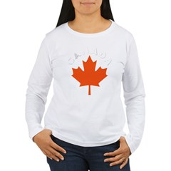 Canadian Maple Leaf Women's Long Sleeve T-Shirt