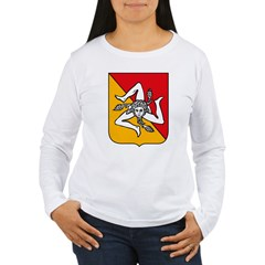 Sicily Coat of Arms Women's Long Sleeve T-Shirt