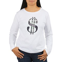 US Dollar Sign | Women's Long Sleeve T-Shirt