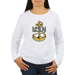 Chief Petty Officer<BR> Tank Top 4 Women's Long Sleeve T-Shirt