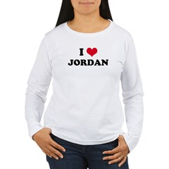 I HEART JORDAN Women's Long Sleeve T-Shirt