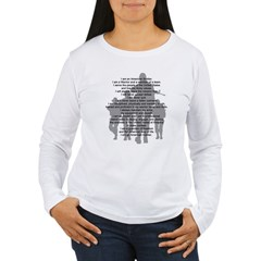 Soldier's Creed, National Gua Women's Long Sleeve T-Shirt