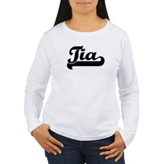 Black jersey: Tia Women's Long Sleeve T-Shirt