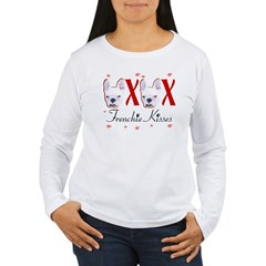 Frenchie Kisses OXOX Women's Long Sleeve T-Shirt