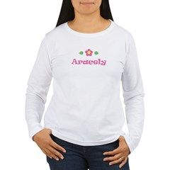 "Pink Daisy - ""Aracely"" Women's Long Sleeve T-Shirt"