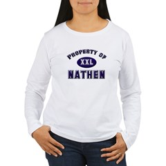 Property of nathen Women's Long Sleeve T-Shirt