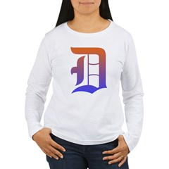 Olde English D Women's + Size Scoop Neck Dark Tee Women's Long Sleeve T-Shirt