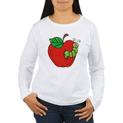 Wormy Apple Women's Long Sleeve T-Shirt