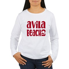 Avila Beach California Women's Long Sleeve T-Shirt