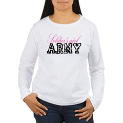 Soldier's girl Women's Long Sleeve T-Shirt