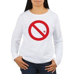 Classic No Smoking Women's Long Sleeve T-Shirt