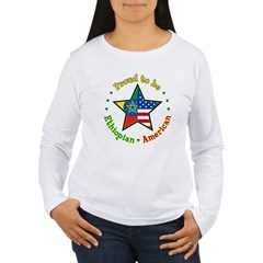/Ethiopian American Women's Long Sleeve T-Shirt