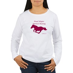 Proud Adopter rose Women's Long Sleeve T-Shirt