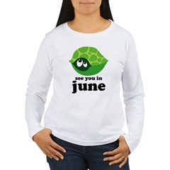 June Baby Due Date Women's Long Sleeve T-Shirt