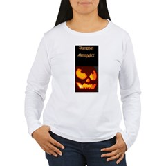 """Pumpkin Smuggler"" Women's Long Sleeve T-Shirt"