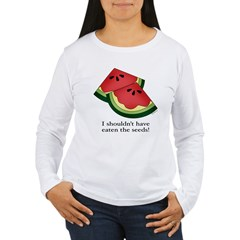 Watermelon Seeds Women's Long Sleeve T-Shirt