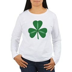 3 Leaf Green Women's Long Sleeve T-Shirt