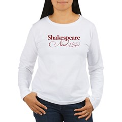 Shakespeare Nerd Products Women's Long Sleeve T-Shirt