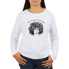 Curly Haired Girl Women's Long Sleeve T-Shirt