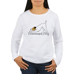 Downward Dog Jack Russell Women's Long Sleeve T-Shirt