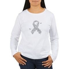 LC Butterfly Ribbon Women's Long Sleeve T-Shirt