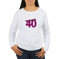 Aunt's 40th Birthday Women's Long Sleeve T-Shirt