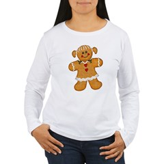 Gingerbread Woman Women's Long Sleeve T-Shirt