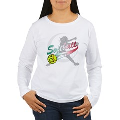 Girls Softball Women's Long Sleeve T-Shirt