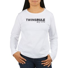 TWINS RULE my life Women's Long Sleeve T-Shirt